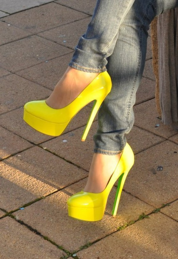 shoes туфли желтые blue heels light blue heels cute platform shoes heels