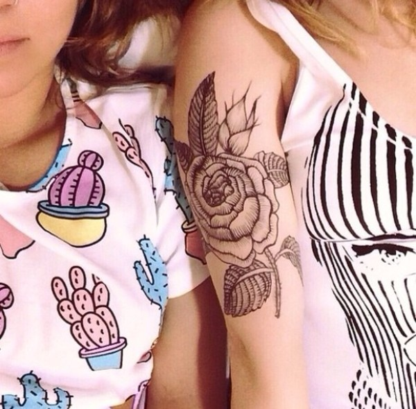 t-shirt plants printed plants cactus plant printed pants white t-shirt