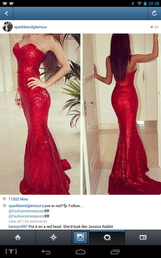 dress prom dress long prom dress red dress sparkle dress beautiful red dress