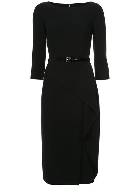 Michael Kors dress belted dress women spandex black wool