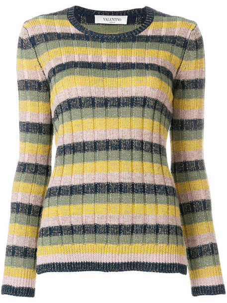 Valentino jumper metallic women wool knit sweater