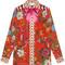 Gucci - flora snake print silk shirt - women - silk - 44, red, silk