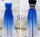 dress,strapless,sparkle,ombre dress,blue prom dress,prom dress