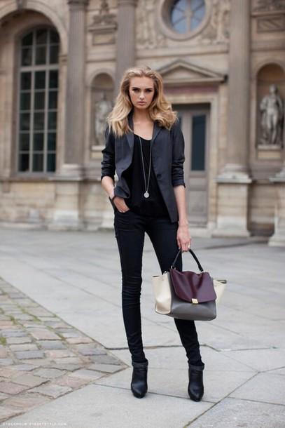jacket blazer jeans