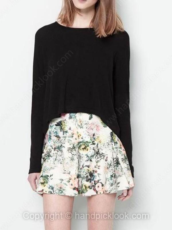 skirt skater skirt pleated skirt circle skirt floral floral skirt white cream beige beige skirt white skirt cream skirt green top
