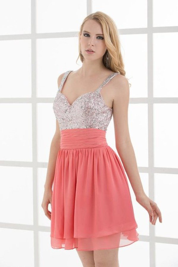 strap party dress gorgeous homecoming dress coral homecoming dress short chiffon homecoming dress