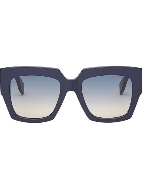 Fendi Eyewear women plastic sunglasses blue