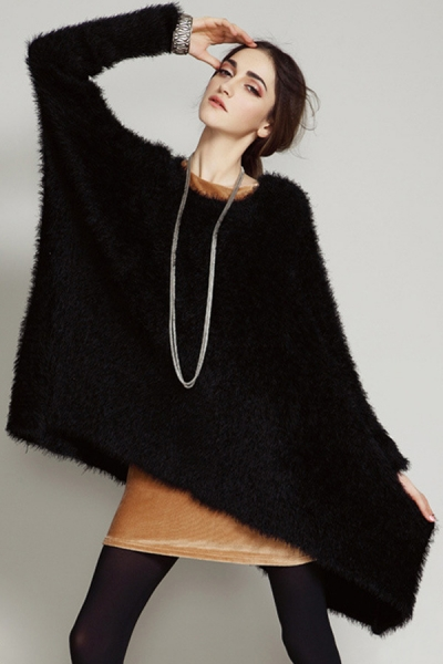 Loose Furry Sweater - OASAP.com