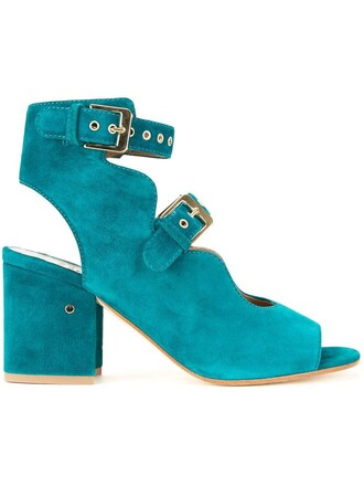 women sandals leather green shoes