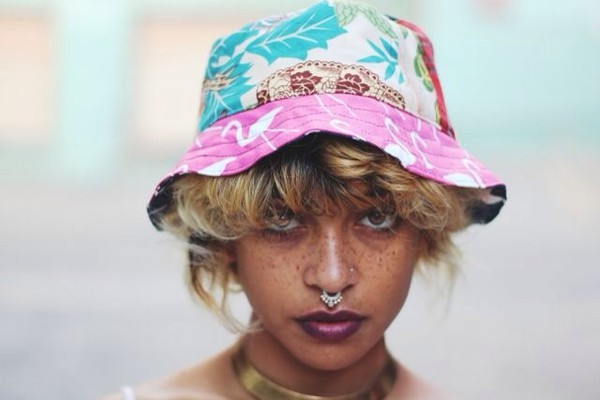 perfect colorful girl bucket hat