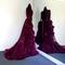 """Boudoir by d'lish — merlot """"cassandra"""" marabou dressing gown (pre-order!)"""