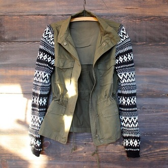 cardigan black and white cardigan army green jacket