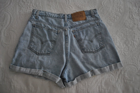 Women's vintage levis high waisted shorts by pinkgrapefruits