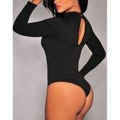 jumpsuit,bodysuit,rose wholesale,black,long sleeves,style,hot,sexy