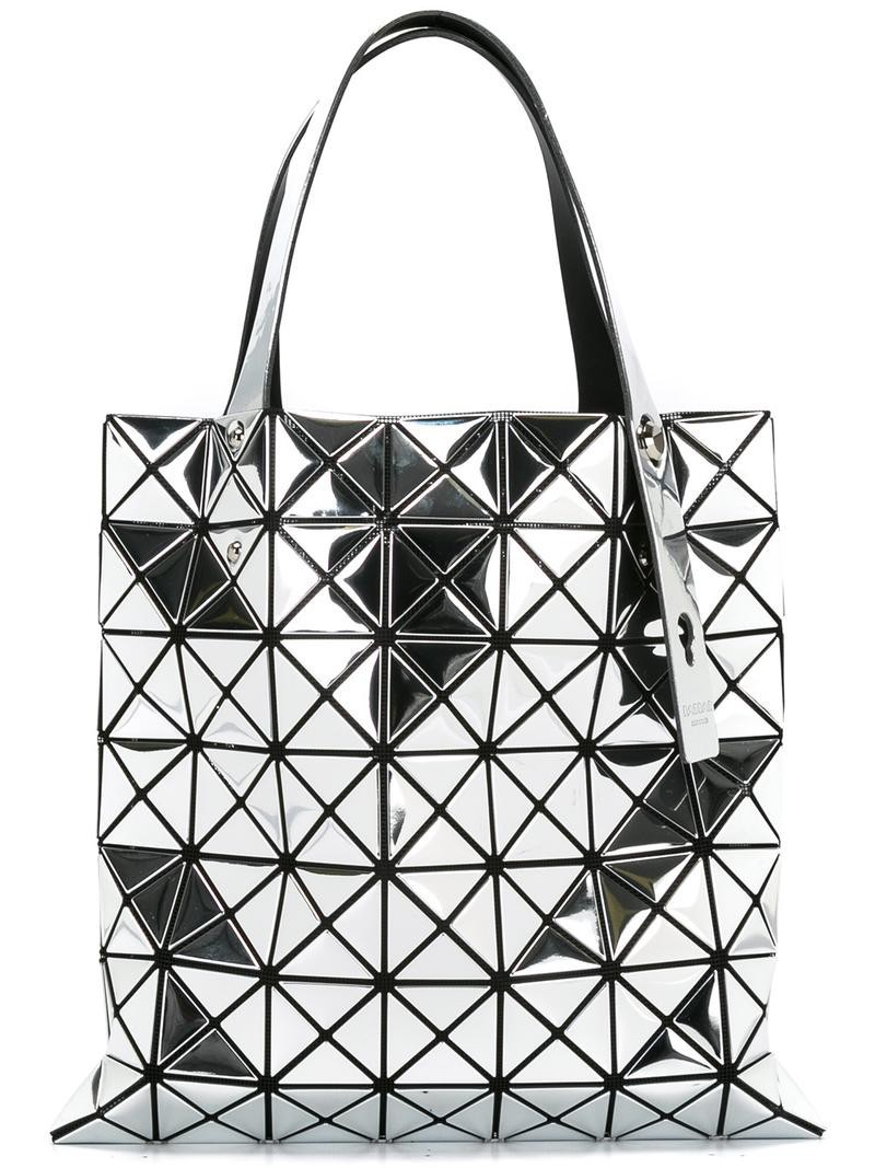 Bao Bao Issey Miyake quilted tote bag, Women's, Grey