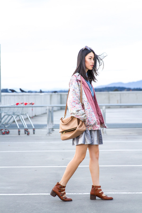 k is for kani jacket shirt skirt shoes sunglasses bag dress