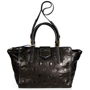 Marc by Marc Jacobs Black Dot Embossed Leather Tote - Sale