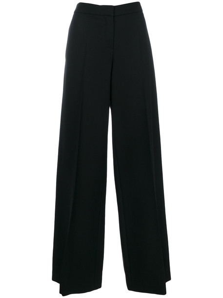 women black silk wool pants