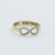 BEST SISTER Infinity Ring detailed with CZ in 3 colors
