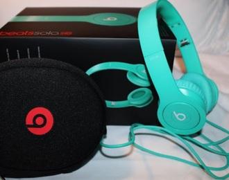 home accessory beats teal headphones headphones