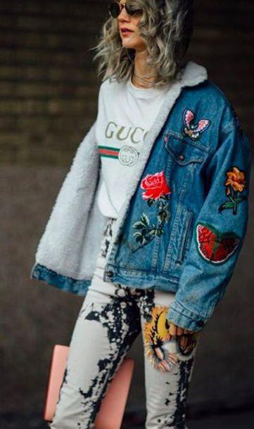Gucci Crop Top W Denim Jeans And Converse Roblox Foto De Gucci Patch Denim Jacket 51 Off Newriversidehotel Com
