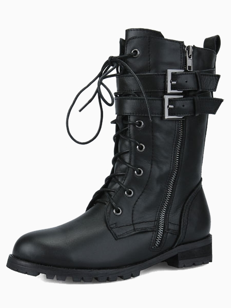 Strapped Lace Up Boots | Choies