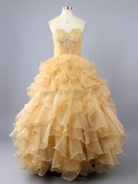 8df02b2063 dress princess sweetheart organza floor-length beading prom dress 15 quinceanera  dresses pretty 15 dresses