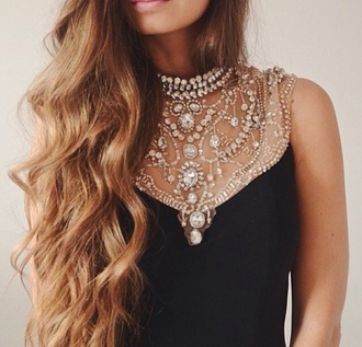 dress black short black shorts collar jewels