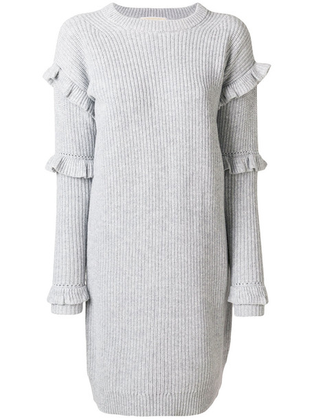 MICHAEL Michael Kors dress women wool grey