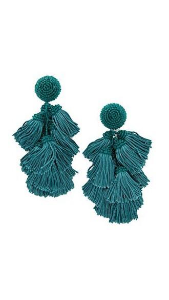 earrings teal jewels