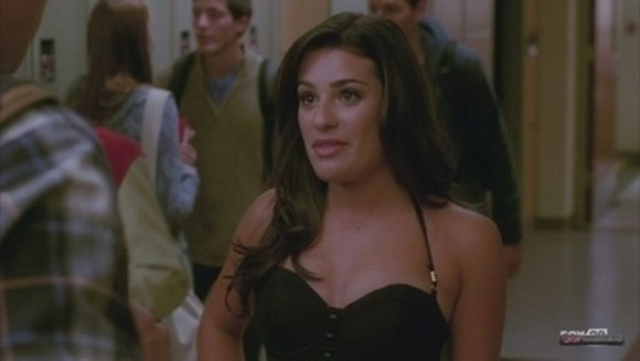 glee rachel berry dress hairography sexy