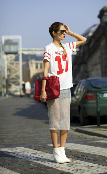 skirt t-shirt jewels shoes bag from brussels with love