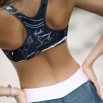 underwear yeah bunny sports bra top marbl yoga activewear