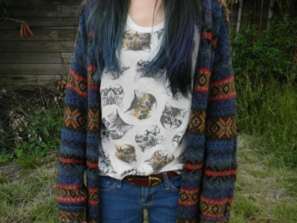 shirt cat shirt cats cats cat print shirt sweater
