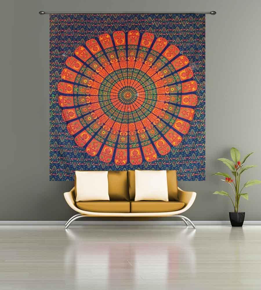 Vibrant Multicolor Mandala Tapestry - HandiCrunch.com