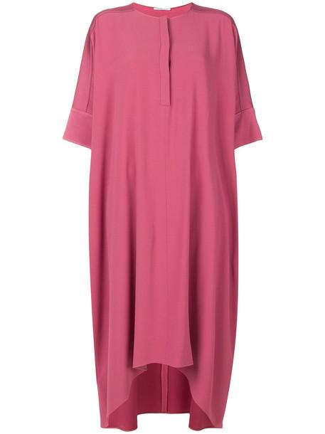 dress midi dress women midi purple pink
