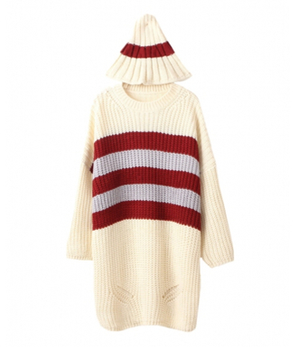sweater clothes fashion jumper shirt hoodie cardigan hat top knitwear knitted cardigan outfit stripes knitted sweater blackfive striped sweater winter/autumn