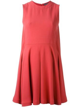 dress mini dress mini pleated purple pink