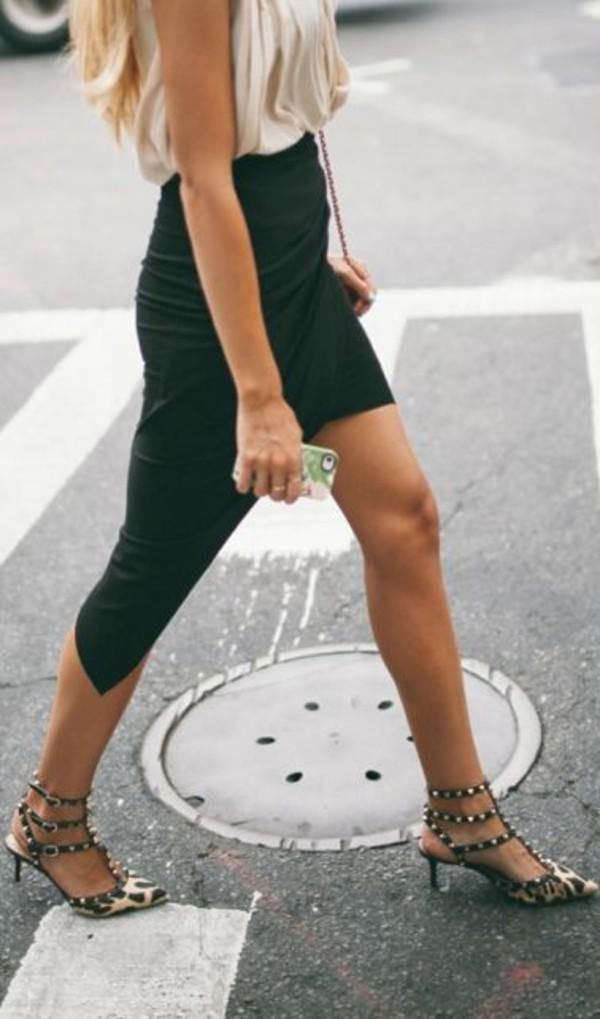 skirt black skirt celebrity style summer sexy