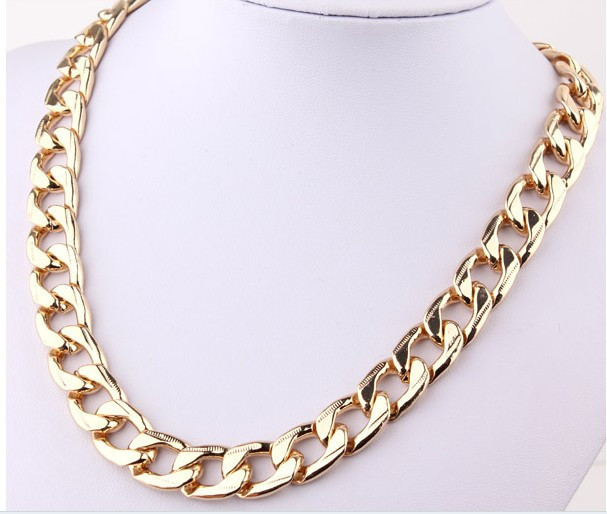 Gothic Punk Style Aluminium Link Chain Choker Chunky Curb Chain Bib Necklace | eBay