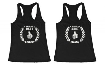 Amazon.com: BFF Tank Tops World's Best Friend Matching Shirts for Best Friends: Clothing