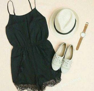 jumpsuit black dress black jumpsuit elegant nice beautiful sweet shorts romper black romper summer shorts summer dress summer top style always black