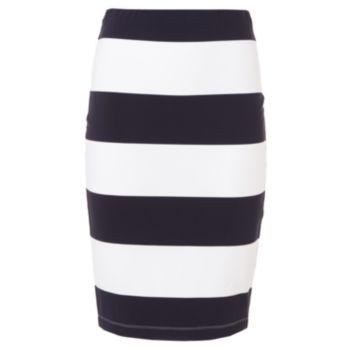 770da4e6c Jennifer Lopez Striped Midi Pencil Skirt - Women's