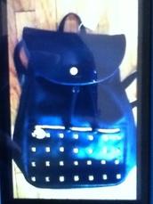 bag,deux lux,backpack,black,gold