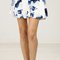 Airbrush floral print mini skirt