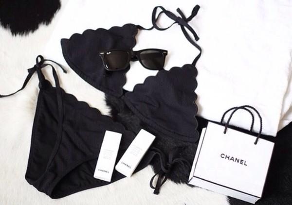 swimwear black classy tumblr