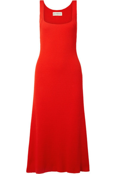 Mara Hoffman dress midi dress midi cotton red