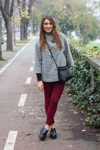 style and trouble blogger bag houndstooth pants