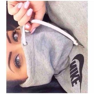 sweater nike nails blue eyes girl nike sweater
