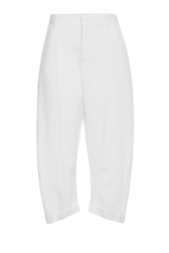 pants cropped pants cropped cotton silk white